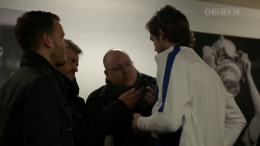 Marcos Alonso talks to journalists after defeat at West Ham