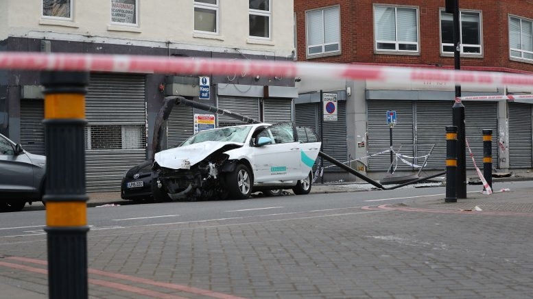 Five injured after vehicle ploughs into crowd of people in Brixton