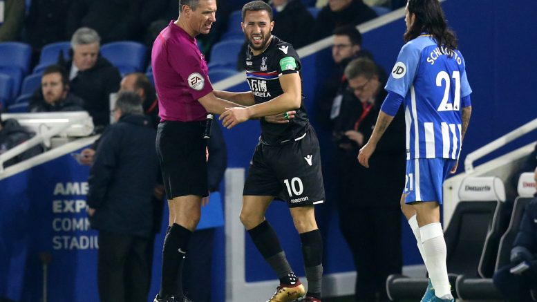 VAR controversy as late Murray victor  helps Brighton sink Crystal Palace