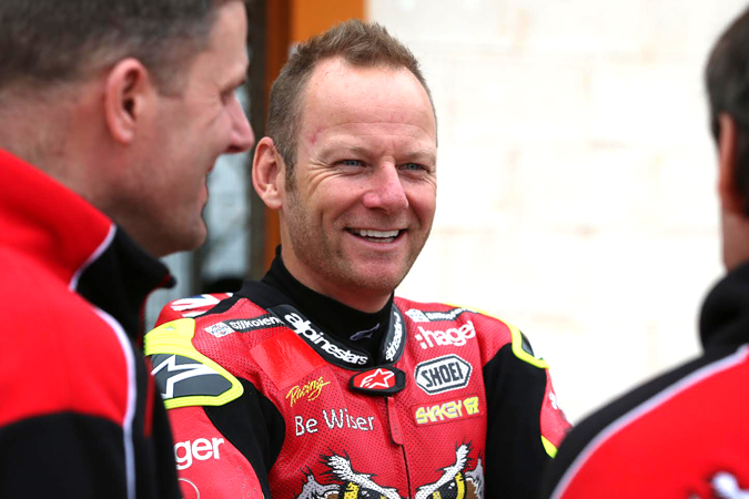 Lambeth's Shane 'Shakey' Byrne held onto third place in the British Superbike Championship last weekend despite being sidelined with serious injuries sustained testing at the track a month ago