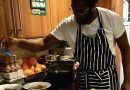 TV chef showing keen cooks how it's done