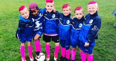 Harry's team is in the pink this October in aid of Cancer Research