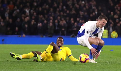 Brighton 3 Crystal Palace 1 – Hosts score twice after Duffy red card in miserable derby night for Eagles