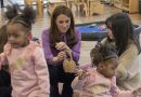 Duchess drops in to visit youngsters at the Henry Fawcett Children's Centre in Clayton Street, Kennington