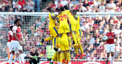 Arsenal 2 Crystal Palace 3 – Christian Benteke ends goal wait as Eagles pull off first win at the Emirates