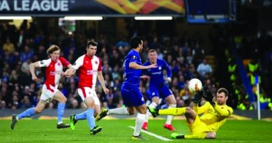 Pedro double helps Blues into Europe League semi-final, but they had almighty scare against Slavia Prague at Stamford Bridge tonight winning 4-3