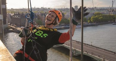 'I'm just popping down this 140ft wall, see you in a bit! Abseilers raise thousands for hospital charity'