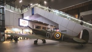 Replica of a Second World War aircraft  wows visitors at The Imperial War Museum on the 75th anniversary of D-Day landing