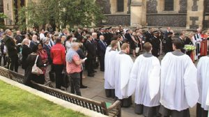Remembering terror attacks: victims of the London Bridge take part in special service at Southwark Cathedral