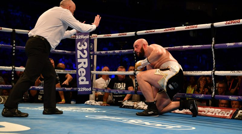 Daniel Dubois wins British title with impressive display of power against Nathan Gorman