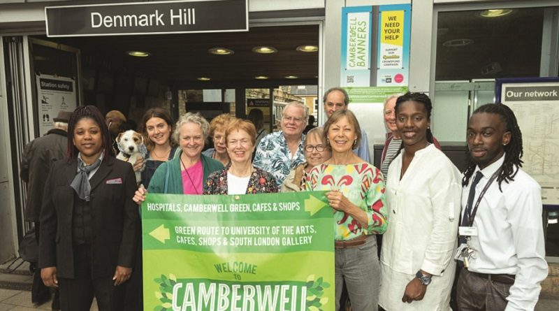Actress Jenny Agutter joins forces with Camberwell community leaders to help boost local businesses featuring Denmark Hill Railway Station