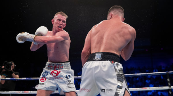 Ted Cheeseman storms out of ring after losing British super-welterweight title