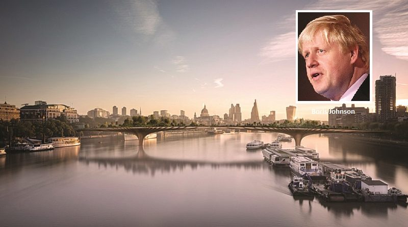 Boris blamed for the failure of the Garden Bridge claims report from the London Assembly
