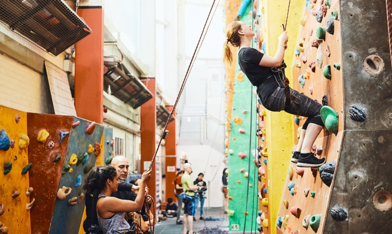 Free rock climbing courses for visually impaired people at The Westway Climbing Centre - London News Online