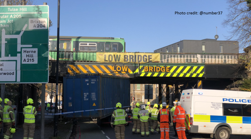 Lorry crashed into bridge on south circular in Tulse Hill