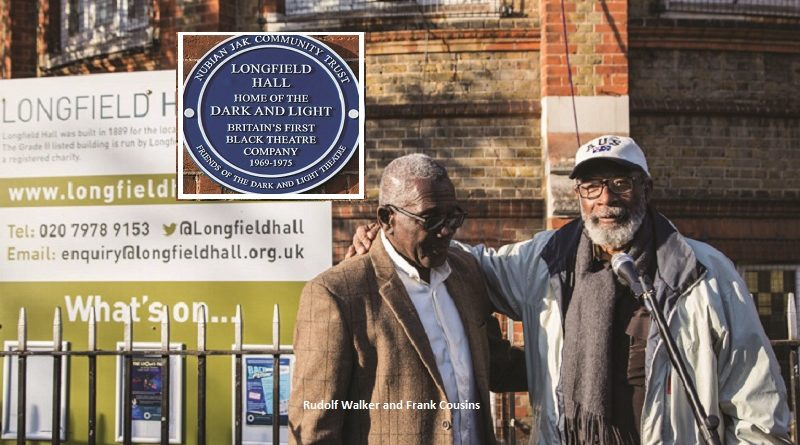 Grade-II listed building becomes the first to house black theatre company Dark & Light and is honoured with blue plaque