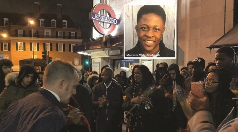 Hundreds hold vigil at tube station where teenager was murdered trying to stop a fight