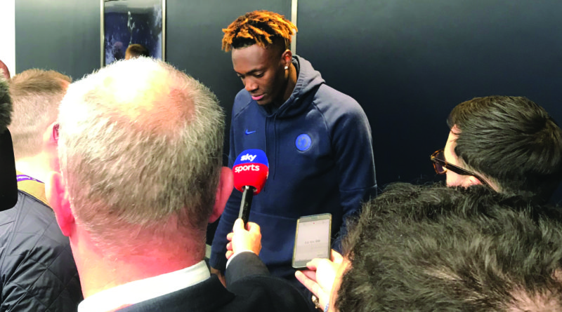 Tammy Abraham after match with Spurs Photo: Paul Lagan