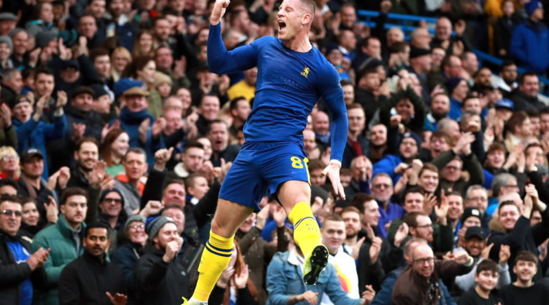Ross Barkley celebrates his goal Photo by PAa